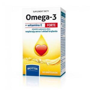 Omega-3 FORTE + Witamina E - 60 kaps.
