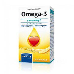 Omega-3 z witamina E - 60 kaps. suplement diety