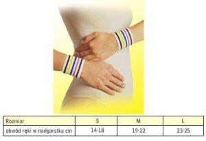 Opaska elastyczna stawu nadgarstkowego krotka